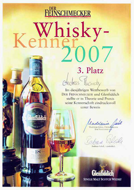 Urkunde Whisky-Kenner 2007